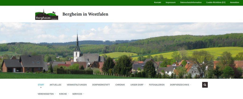 """Neue Hompage """"www.bergheim-westfalen.de"""" und Dorffunk-App gehen online"""