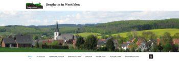 """Neue Homepage """"www.bergheim-westfalen.de"""" und Dorffunk-App gehen online"""